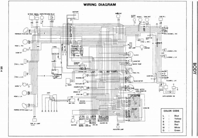 datsun 280z alternator wiring diagram