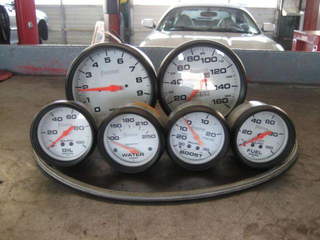 Car Gauges Set : F s autometer phantom series gauge set parts for