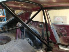 view of roll cage
