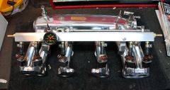 Pallnet Fuel Rail on Polished Manifold
