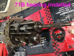 71b bearing installed