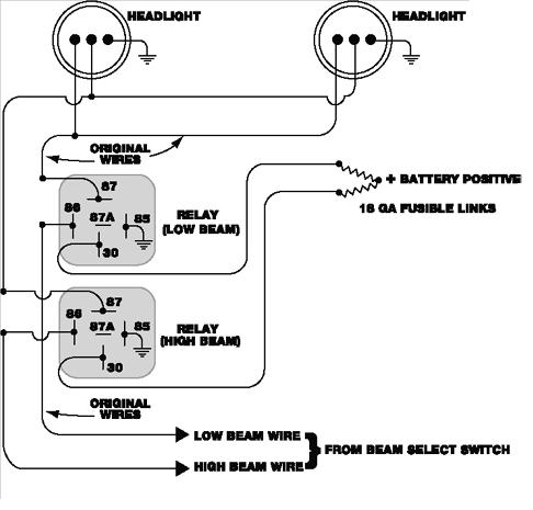 headlight relay for 260-280? - s30 series - 240z, 260z ... porsche headlight wire diagram #14