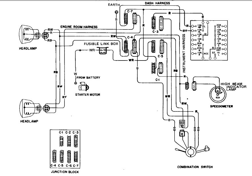280z headlight wiring diagram