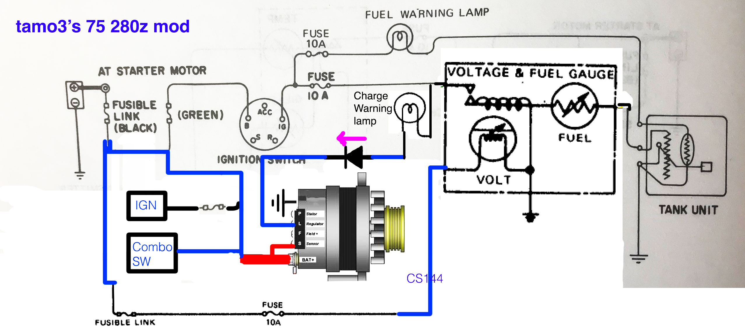 CS144 Alternator is not charging battery - S30 Series ...