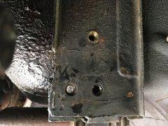 Driver side, side mount Nut Sert install