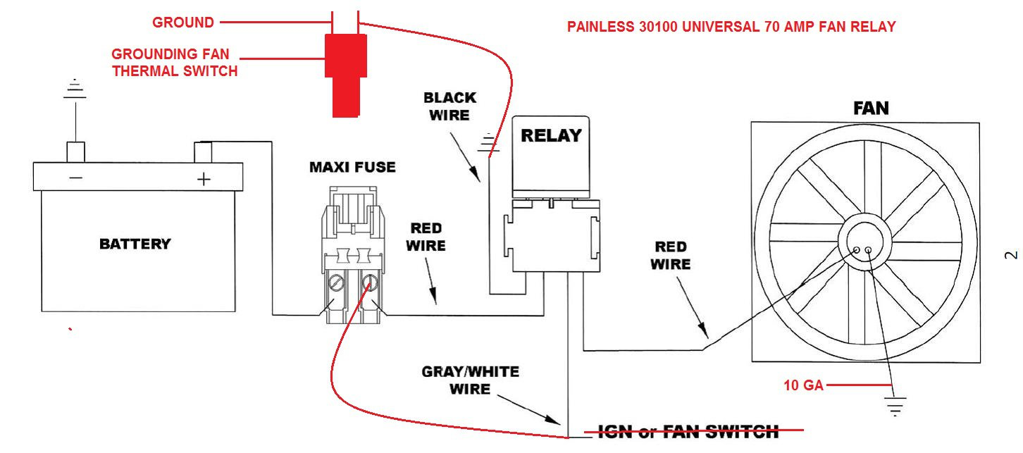 Volvo 850 Fan Install Cooling Systems Hybridz Painless Wiring Schematic Relay