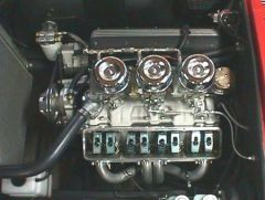 Small Block Chevy with Tri-Power