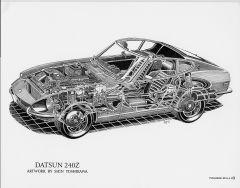 Datsun 240Z cutaway By Shin Yoshikawa.84212358