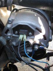 An internally regulated alternator