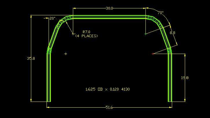 Main hoop dimensions