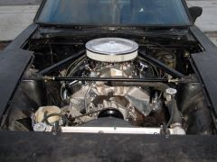 open hood with view of engine
