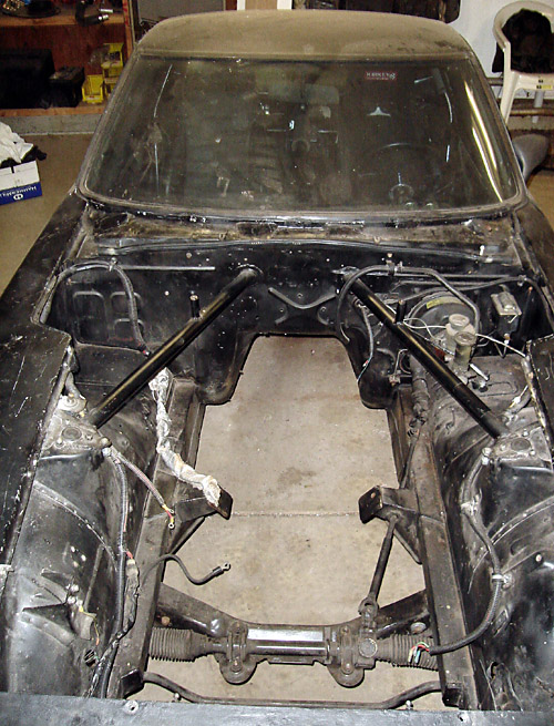 engine compartment before installing engine
