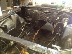 Rhinolined the engine bay