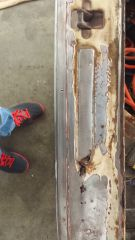 rusted hatch slam panel
