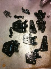 Hinge parts powder coated