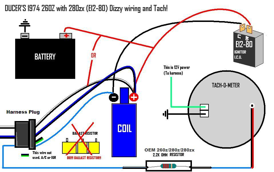 80 280zx harness pinout diagram early 260z to zx distributor wiring s30 series 240z  260z  early 260z to zx distributor wiring
