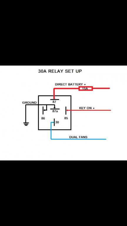 wiring dual electric fans with relay and toggle switch
