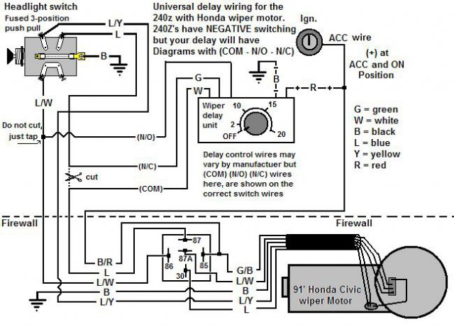 [SCHEMATICS_49CH]  Wiring up a Honda wiper motor - with a twist - Ignition and Electrical -  HybridZ | Honda Accord Wiper Wiring Diagram |  | HybridZ