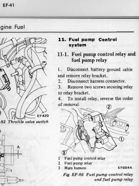 280z fuel injector relay