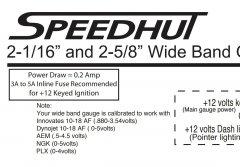 speedhut manual