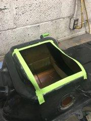 Hole in tank