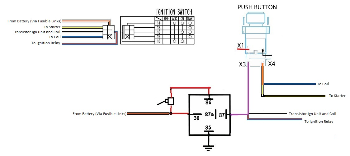 Push button start with ACC toggle, Need edumacation! - Ignition and  Electrical - HybridZ | Push Button Ignition Wiring Diagram |  | HybridZ