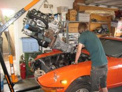 It's nice to have kids...  He's the guy that gave me the L28ET!  We installed an L28ET two years ago into his 1976 280Z.  Still runs like a champ!